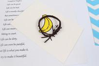 棕色头绳发饰摄影图