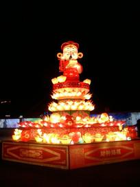 灯会中的财神灯笼图片