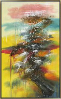 仿真喷绘抽象油画高清图片素材