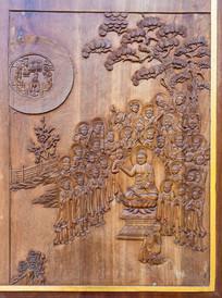 佛教图案木雕