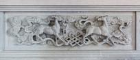 鹿图案石雕