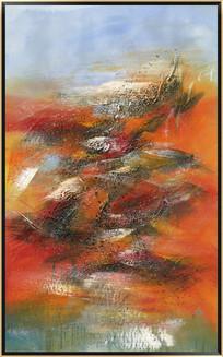 无框画 竖版抽象油画