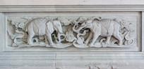 象图案石雕