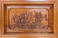 喜鹊图案木雕