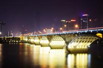 长沙市橘子洲大桥湘江夜景图