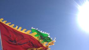 飘舞的旗子图片