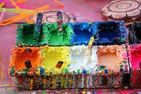 五彩颜料盒