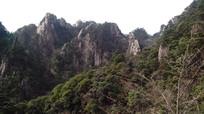 安徽黄山的山峰