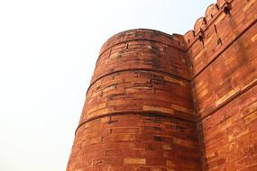红砖古建筑特写