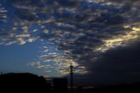 清晨蓝色云海