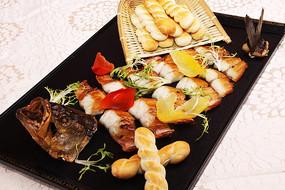 烟熏鲈鱼配麻花