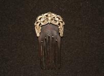 银錾花发钗