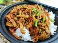 中华美食鱼香肉丝盖浇饭图片