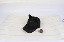 黑色猫耳朵棒球帽