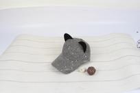 灰色猫耳朵棒球帽