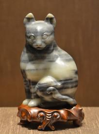 文物黑白玉猫