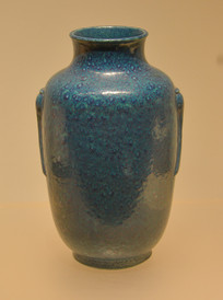 文物炉均釉双耳瓷罐