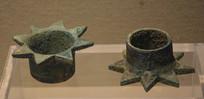 文物青铜八角形车饰