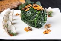 菠菜拌鲜毛蛤