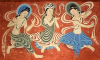 敦煌壁画之舞蹈的伎乐菩萨