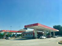 服务站的加油站