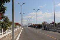 通往热带植物园的一座大桥