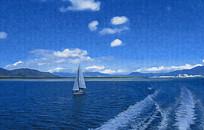 蓝色海洋风景