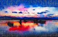 山水创意风景