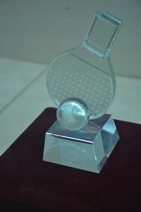 收藏品中日小学生乒乓球比赛奖杯