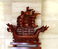 一帆风顺帆船雕刻