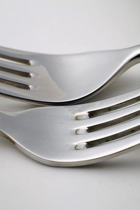 餐具叉子特写
