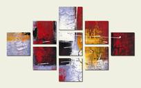 无框画 组合抽象画