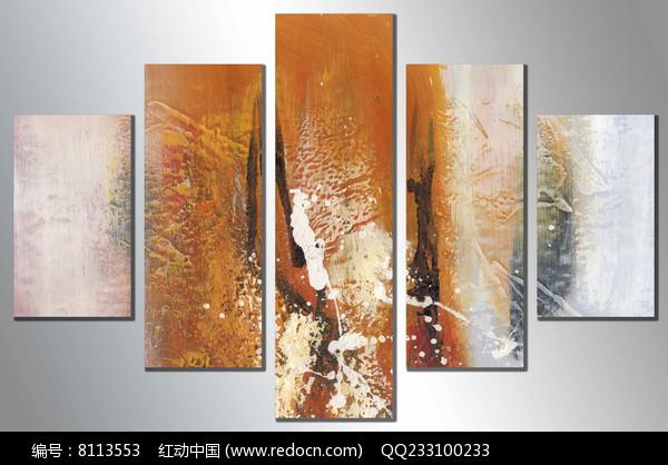 现代艺术背景墙壁画图片
