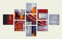 组合艺术墙 多拼壁画