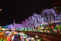 自贡市花灯展花灯图片-花树