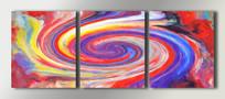 抽象无框画组合三联装饰画
