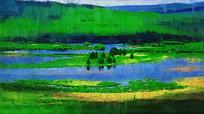 电脑画《湿地风景》