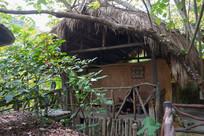 海南槟榔谷少数民族居住的土屋