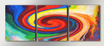 三联沙发背景装饰画