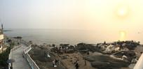 厦门海边夕阳