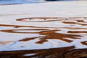 雪野抽象图案