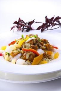 芝士焗咖喱鸡肉饭