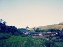 傍晚的乡村风景
