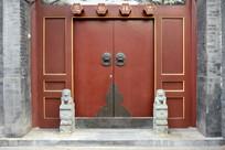 北京民居红门