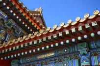 故宫彩绘屋檐