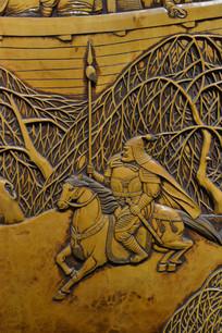 木雕人物宋朝骑马将军