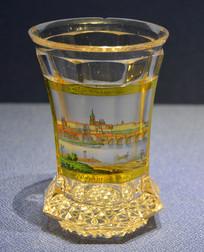 欧洲描布拉格城堡玻璃大酒杯
