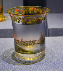 欧洲描德累斯顿风光玻璃大酒杯