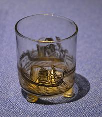 欧洲描刚朵拉玻璃酒杯