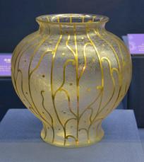 欧洲描金玻璃花盆